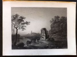 After Wilson C1860 Art Journal Print. The Ruined Temple